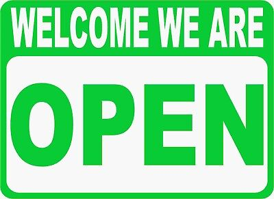 Open Closed Sign. Size Options. Two Sided Business Signs. 2-sided Welcome Sorry