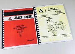 allis chalmers 710 712s 712h 716h parts catalog & service manual garden  tractor