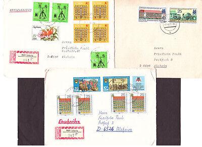 DDR 3 Briefe Mischfrankatur mit Messemarken, auch 2 R-Briefe aus Leipzig, gebraucht gebraucht kaufen  Seeheim-Jugenheim