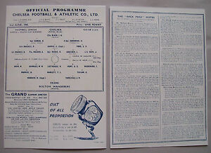 1945-F-A-League-cup-final-programme-Chelsea-v-Bolton-Wanderers-in-Mint-con