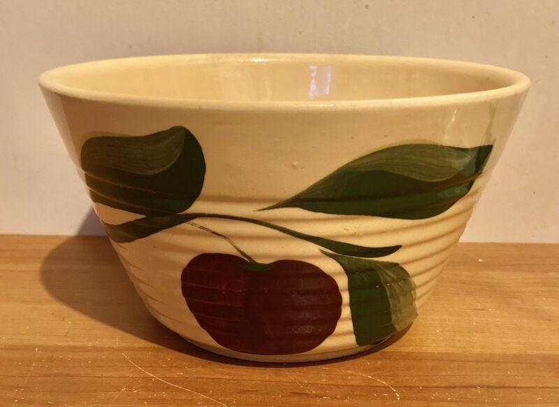 Vintage Watt Pottery Apple Ribbed #8 Mixing Bowl