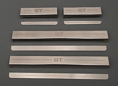 VW Volkswagen Golf GT Mk7 2013+ Chrome Door Sill Protectors Kick Plates 4/5 Door