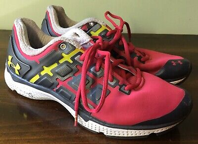 Under Armour Women's Size 8.5 Pink/Gray/Yellow Micro G Running Athletic Shoes