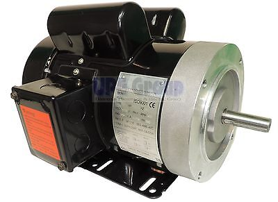 1.5 HP Electric Motor 3450 /3600 RPM 1PH 56C Frame TEFC 115/230V General Purpose