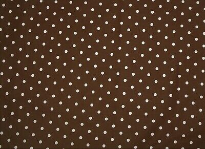 Handmade cotton fitted crib sheet Brown with light pink Polka Dots (Brown Dot Crib Sheet)