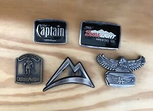 Belt buckles for sale. Coors Light, Captain Morgan, etc.