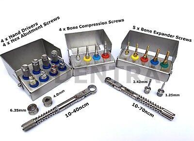 Bone Expander Compression Screw Driverstorque Wrench Ratchet Dental Implant Set