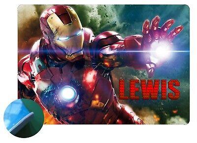 Personalised Iron Man design 1 Placemat - Easy Wipe Clean - EVA Sponge Backed