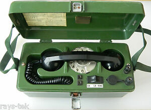 British Army PYE 704B Linesman's Field Telephone, Tested and Working [TD2]