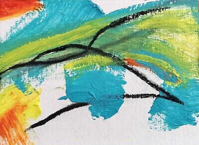 NHS CHARITY AUCTION 100% TO CHARITY WAVES ABSTRACT 109 NIGEL WATERS SIGNED