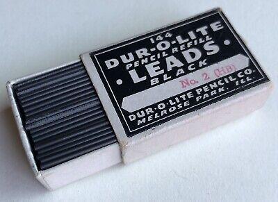 Vintage DUR-O-LITE Pencil Co. HB No. 2 Black 1.18mm Refill Lead NOS 144 Pack USA