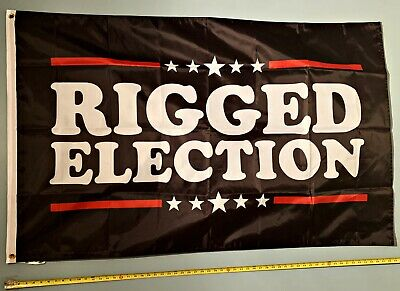 DONALD TRUMP FLAG *FREE SHIP USA SELLER!* Rigged Election Jr USA 2024 Sign 3x5'