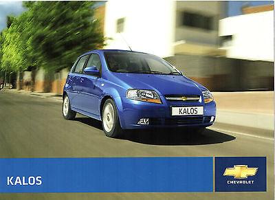 Chevrolet Kalos 2007-08 UK Market Sales Brochure 1.2 S SE 1.4 SX 3-dr 5-dr