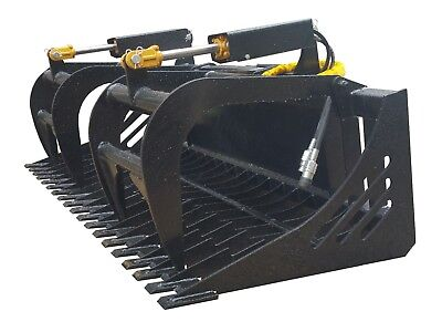 Skid Steer 66 Skeleton Grapple Universal Quick Attach Free Shipping