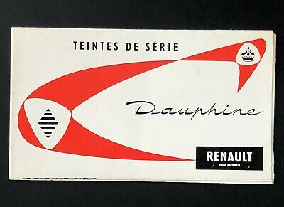 Vintage 1958 Renault Dauphine Brochure Poster Written in French Standard Colors