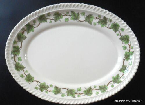 """VINTAGE HARKER ROYAL GADROON GREEN IVY PATTERN DINNER PLATTER 11.5"""" COZY COTTAGE"""