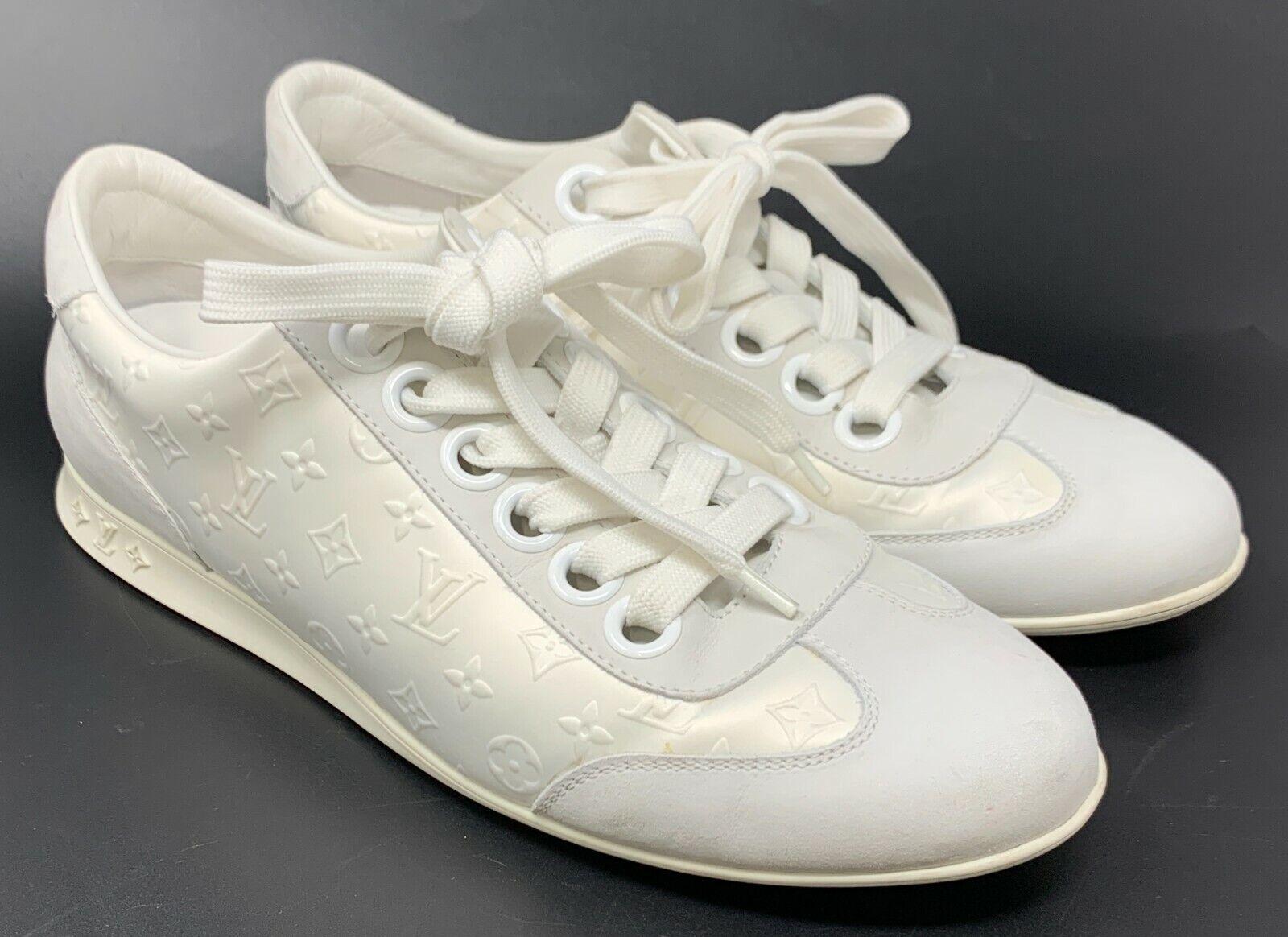 Authentique louis vuitton monogramme baskets chaussures athlétisme #38.5 us 8