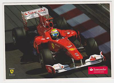 4ce3236b86b Felipe Massa F1 Card Ferrari Scuderia Santander Promo Postcard Rare  Cartolina