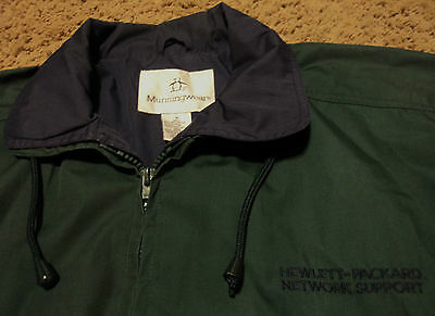 Hp Hewlett Packard Network Support Jacket Windbreaker For Over Shirt Medium