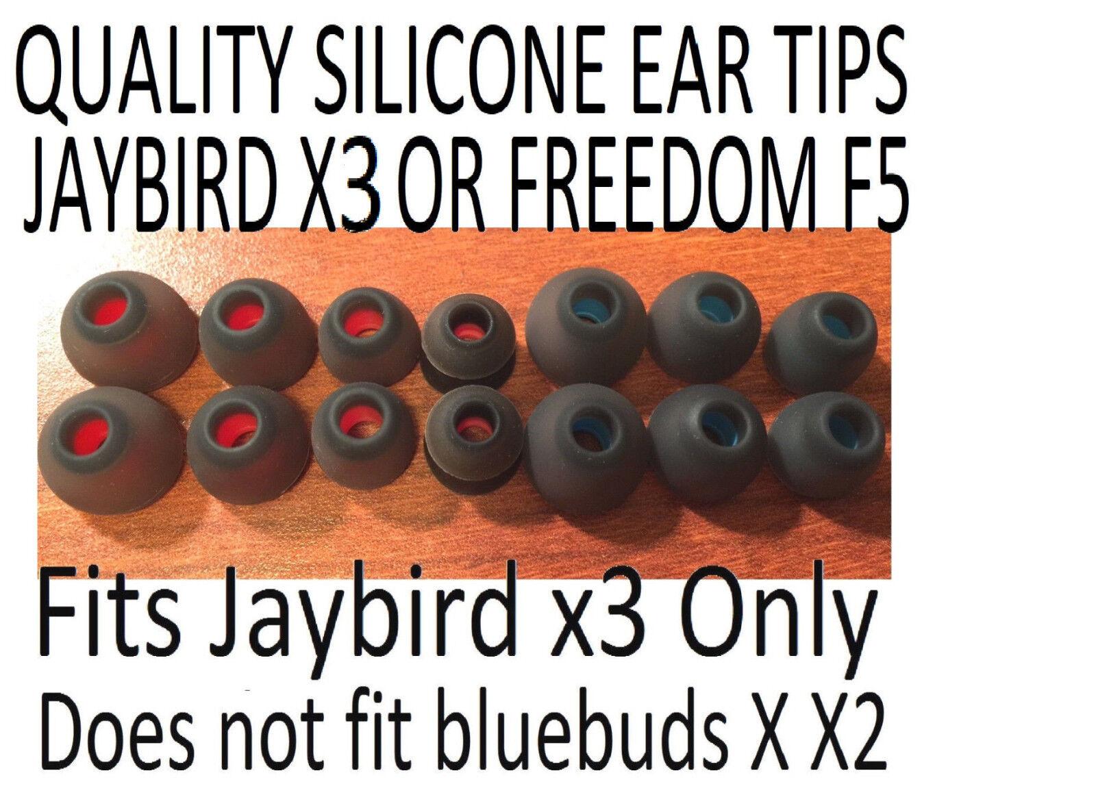 Quality Silicone Gel Ear Tips Buds Sets JayBird X3 Freedom 2