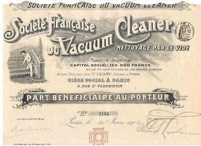 Societe Francaise du Vacuum Cleaner  Paris  1903  Hochdeko