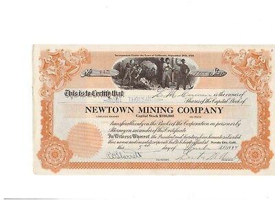 Newtown Mining Company  1924