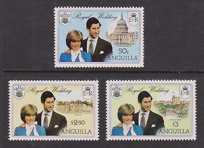 1981 Royal Wedding Charles & Diana MNH Stamps Stamp Set Anguilla SG 464-466
