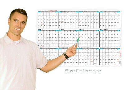 Jjh Planners Laminated - 24 X 36 Large Yearly Wall Calendar 2021 Horizontal