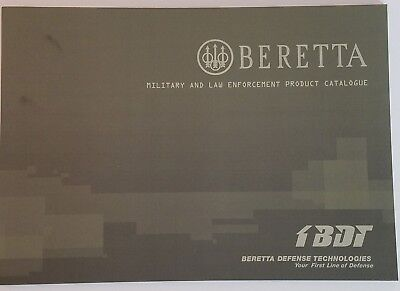 Beretta Military and Law Enforcement Firearms Catalog Booklet / 83 Pages