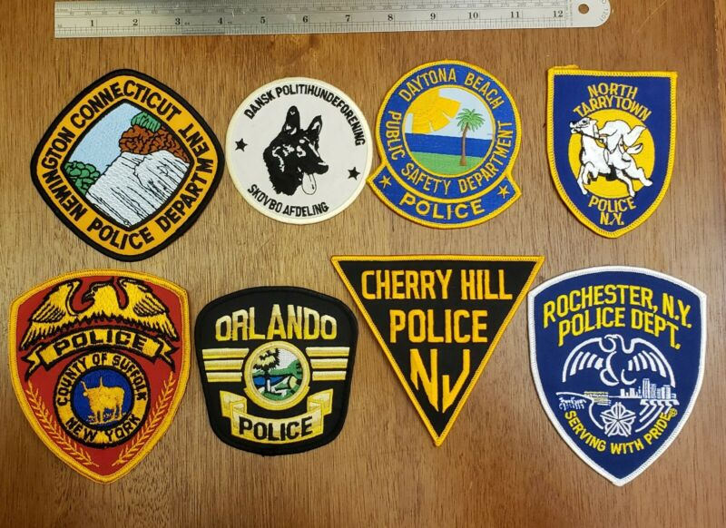 Police Patches Assorted Lot of 8 Collectibles NY,NJ, FL,...