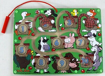 Melissa & Doug Magnetic Wand Barnyard Number Maze Doug Magnetic Number Maze