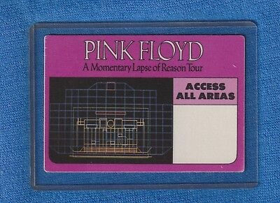 PINK FLOYD MOMENTARY LAPSE TOUR 1989 BACKSTAGE PASS NR.MINT CONDITION! WITH COA