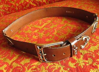 SMALL Vtg Leegin Brighton 90s Leather Western Gothic Fashion Belt