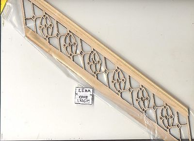 "Staircase Hand Railing fits steps # 898 for 10"" Ceiling   1/12 scale Stairs USA"