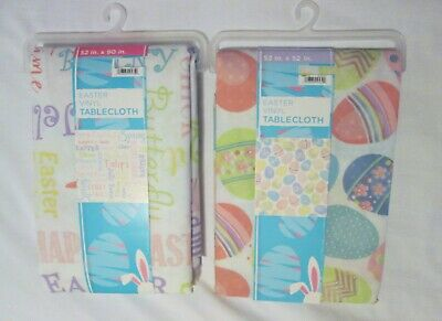 New EASTER Vinyl Tablecloth 2 designs to choose from Eggs OR Easter words