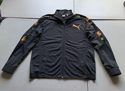 PUMA Mens Gray Orange Floral Track Jacket Hip Hop Coat Athletic Polyester SZ L