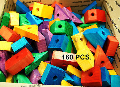 Colored wood wooden blocks for bird parrot toy parts macaw African grey amazon