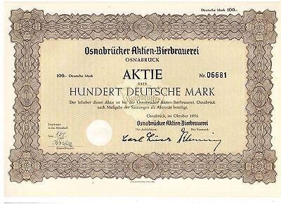Osnabrücker Aktien Bierbrauerei  1956