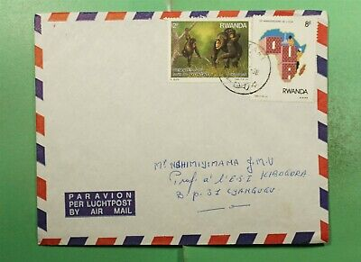 DR WHO 1998 RWANDA AIRMAIL TO KIBOGORA  g15590
