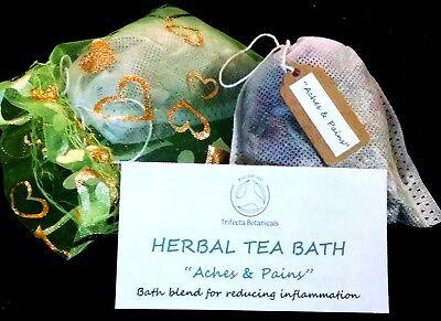 Aches & Pains Organic Herbal Bath Tea Natural Apothecary Tub Spa Soak