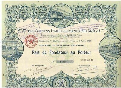 Etablissements Billard & Cie  1930  DEKO