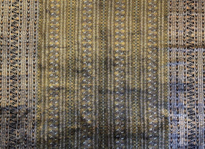 Beautiful Bokhara - 1960s Antique Tribal Rug - Oriental Carpet - 6.2 X 7.11 Ft.