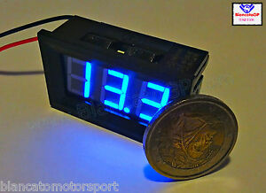 Voltimetro-digitale-3-30V-LED-BLU-voltometro-voltmeter-kfz-battery-panel-meter