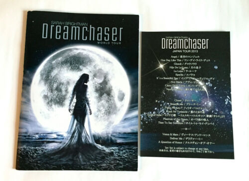 SARAH BRIGHTMAN Dreamchaser World Tour 2013 JAPAN PROGRAM BOOK w/Setlist A01