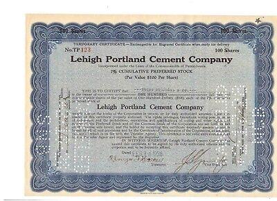 Lehigh Portland Cement Company  1928