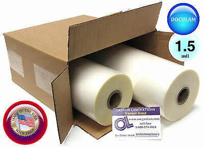 2 Rolls Doculam Hot Laminating Film 9 X 500 On 1 Core 1.5 Mil American Made