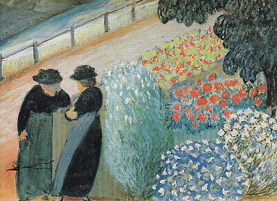 Postkarte: Marianne von Werefkin - Garten der Frauen / 1910 (Garten Der Frauen)