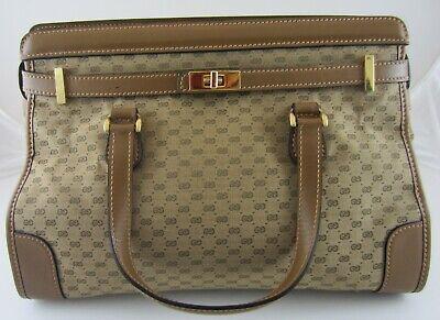 Gucci Birkin Satchel Tote Kelly Bag GG Monogram Rare Vintage HTF VGC