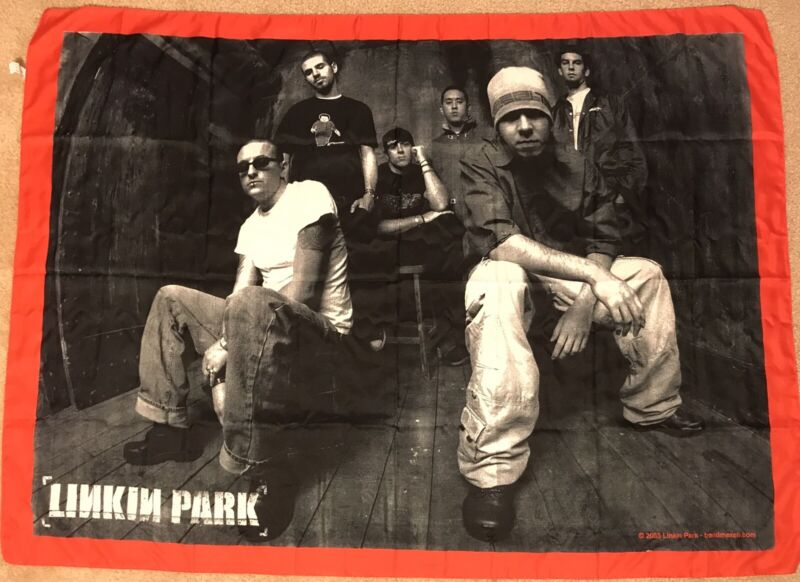 2003 Linkin Park Textile Poster 40x30 UNUSED Polyester Fabric