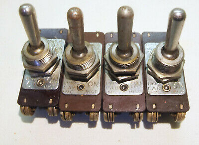 4 - Vintage Ahh Toggle Switches - 3a. 250v 6a. 125v